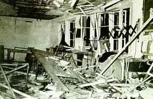 Conference room after Stauffenberg's bomb exploded, July 20, 1944